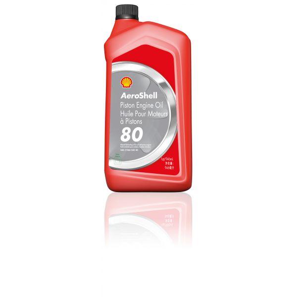 AeroShell Piston Engine Oil 80 (1 QT)