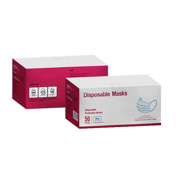 DISPOSABLE MASKS BLUE (1 BOX = 50 PCS)